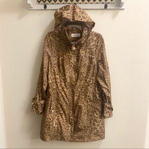 Calvin Klein Cheetah Print Rain Jacket